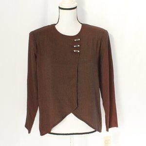 Piccalino Petites Vintage Brown Blouse NWT